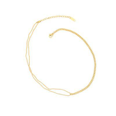 PUVOS Ladies Round Beads Thick Chain Necklace Web Celebrity Cool Style Simple Fashion Versatile Personality Hip Hop Collar