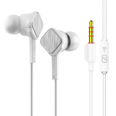 Headsets Bass Wired In Ear Phones Key control Head phones with Mic Music Earphones for mobile Phone  For Android