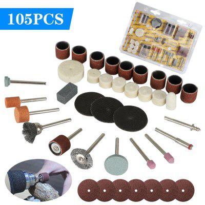 105pc Rotary Tool Accessories Set Electric Grinding Attachment Kit Multi mini drill Polishing Drilling Kits for Dremel
