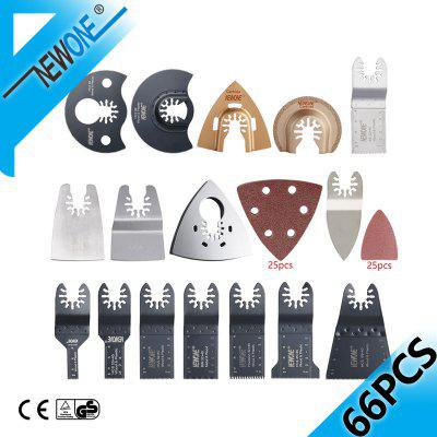 NEWONE 66PC Quick Release Oscillating Saw Blade in Electric Multi-tools Precision/BIM Blades Accessories for Metal/PVC/Wood