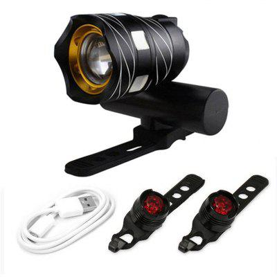 Nb set-2 MTB LED Light Super Bright Front And Rear Set 1500LM whit Bicycle for USB Rechargeable Night Safety Protection Warning