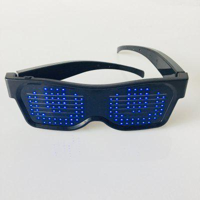 Smart LED Glow Glasses Night Party Favor DIY Flashing Pattern Display for Halloween Nightclub Christmas Birthday Supplies