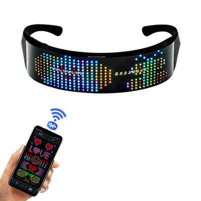 Smart Customizable LED Glowing Glasses Luminous Flashing Sunglasses Night Party Favors for Kids Adults Christmas Birthday Halloween Holiday Festival