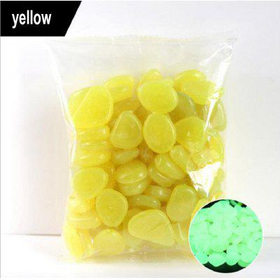 500pcs Garden Glow In The Dark Luminous Pebbles For Walkways Plants Aquarium Decor Stones Fish Tank Decoration