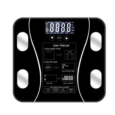Black Weight Scale Body Fat Scales Floor Scientific Smart Electronic LED Digital Bathroom Balance Bluetooth