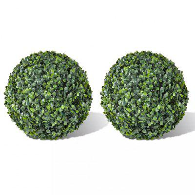 Boxwood Ball Artificial Leaf Topiary 35 cm 2 pcs