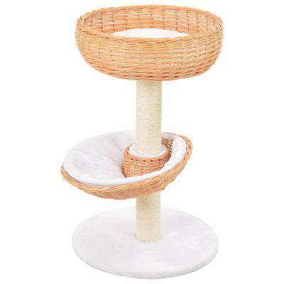 Cat Tree Brown with Sisal Scratching Post Natural Willow Wood set of 2 wooden bar chairs solid acacia wood brown