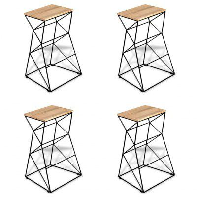 Bar Stools 4 pcs Solid Mango Wood