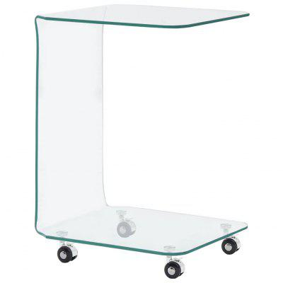 Coffee Table 45x40x58 cm Tempered Glass