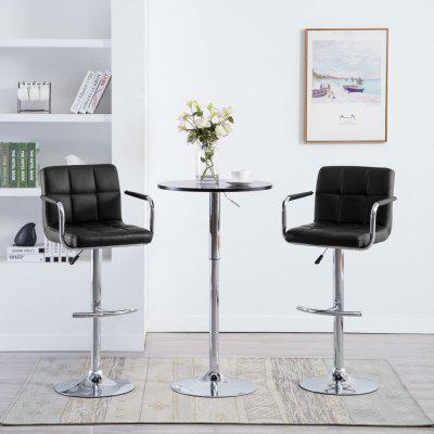 Bar Chairs with Armrests 2 pcs Faux Leather Black