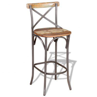 Bar Chair Solid Reclaimed Wood
