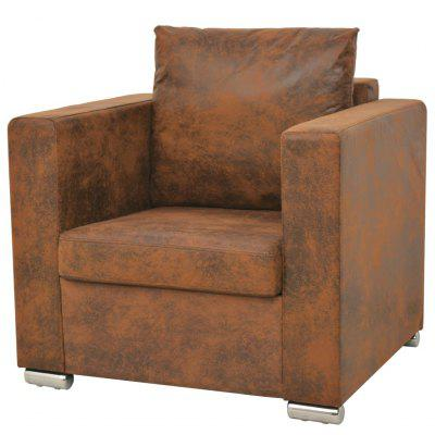 Armchair 82x73x82 cm Artificial Suede Leather