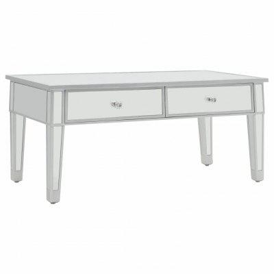 Mirrored  Coffee Table MDF and Glass 100x50x45 cm