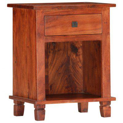 Bedside Cabinet 40x30x50 cm Brown Solid Acacia Wood