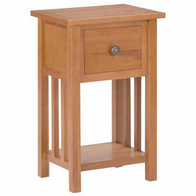 Magazine Table with Drawer 35x27x55 cm Solid Oak Wood