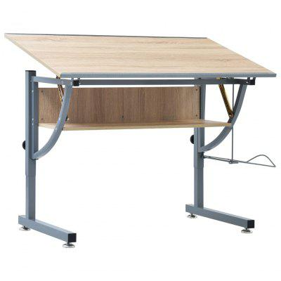 Teenagers Drafting Table Oak 110x60x87 cm MDF
