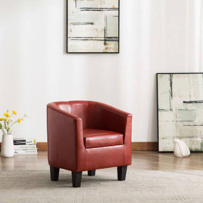 Tub Chair Faux Leather Multicolor