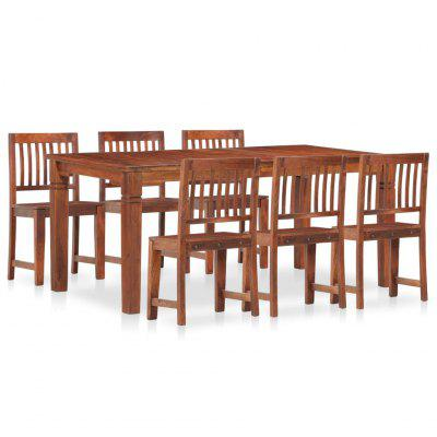 7 Piece Dining Set Solid Mango and Acacia Wood