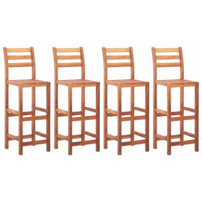 Bar Chairs Brown 2 pcs Solid Acacia Wood