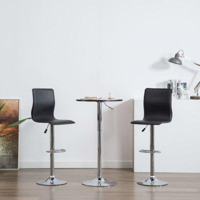 Bar Chairs 2 pcs Faux Leather White