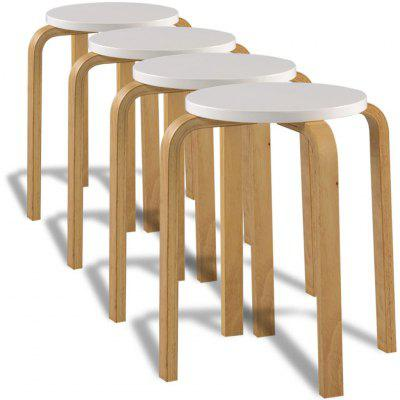 Bar Stools 4 pcs Black Bent Wood
