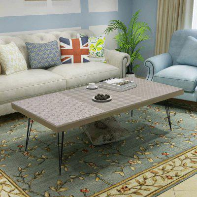 Retro Style Coffee Table 120x60x38 cm Brown