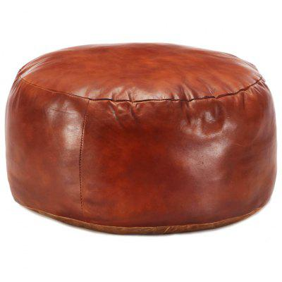 Pouffe Tan 60x30 cm Genuine Goat Leather
