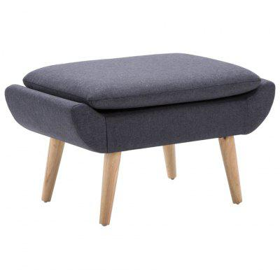 Footstool Fabric Upholstery 73x43x42 cm Dark Grey
