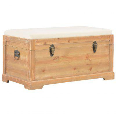 Storage Chest with Cushion 80x40x40 cm MDF