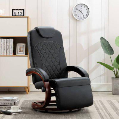 TV Recliner Black Faux Leather