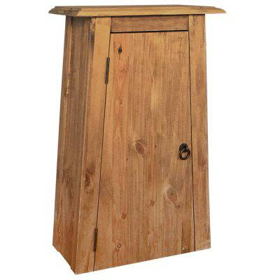 Bathroom Wall Cabinet Solid Recycled Pinewood  42x23x70 cm