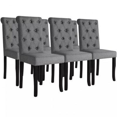 Dining Chairs 2 pcs Solid Wood Dark Grey
