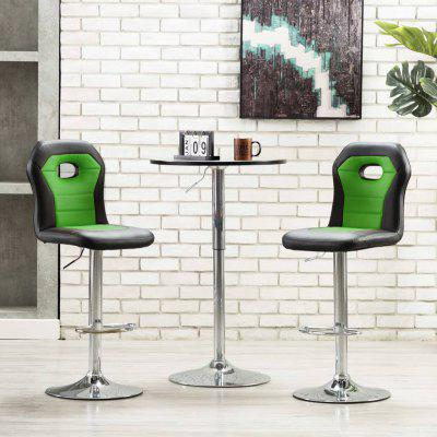 Bar Chair  Faux Leather Modern Style
