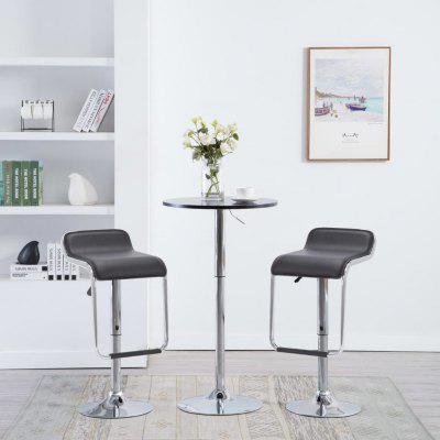Swivel Bar Stools 2 pcs Faux Leather 34.5x50.5x89 cm