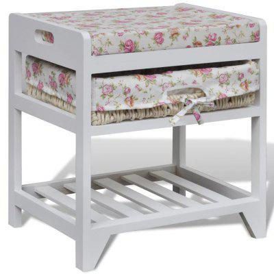 Storage Bench with  Shoe Rack and Basket Wood