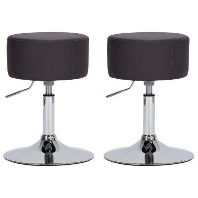 Bar Stool Wine Red Faux Leather