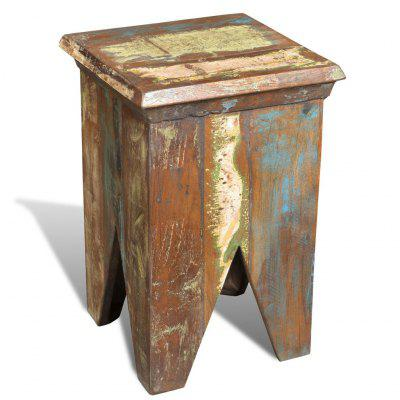 Antique-style Stool Solid Reclaimed Wood
