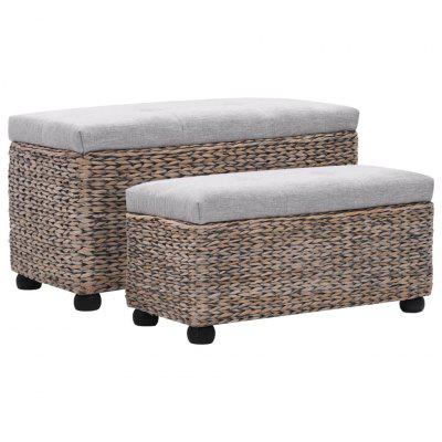 Фото - Bench Set 2 Pieces Seagrass Brown little pieces little pieces li025eghoj11