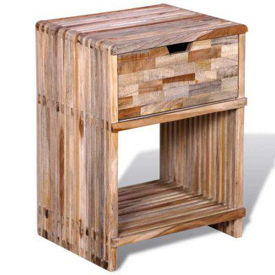 Nightstand with Drawer Reclaimed Teak Wood