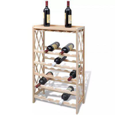 Wine Rack for 25 Bottles Solid Fir Wood