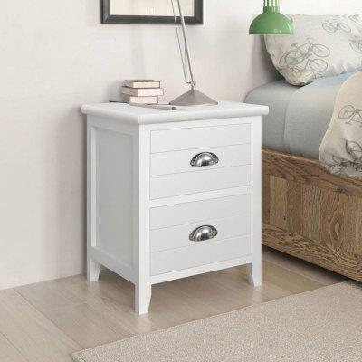 Nightstand 2 pcs with Drawers White