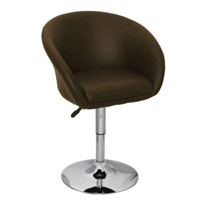 Bar Stool Brown Faux Leather