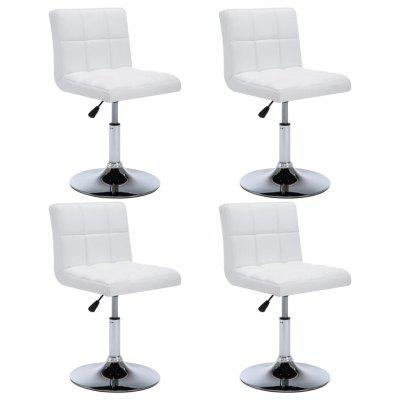 Swivel Dining Chairs 4 pcs Faux Leather 50x43x85 cm White