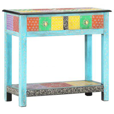 Hand Painted Console Table 80x35x75 cm Solid Mango Wood