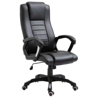 Office Chair Black Faux Leather