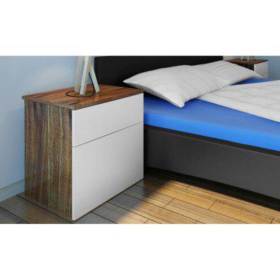 Nightstand 2 pcs with OneDrawer Brown/White