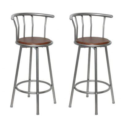 Bar Stools 2 pcs  Faux Leather Black and Brown