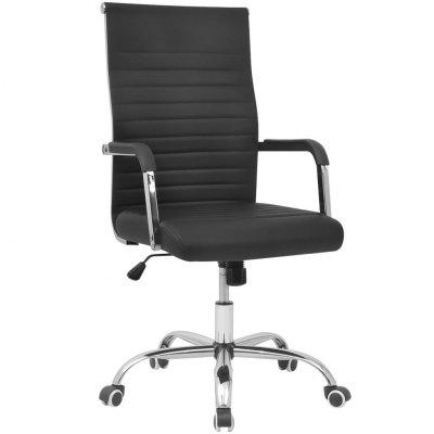 Office Chair Artificial Leather 55x63 cm Black