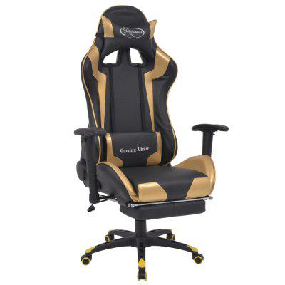 Ergonomic Office Chair PC Gaming Desk Executive PU Leather Computer Lumbar Support with Footrest