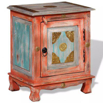 Nightstand Solid Mango Wood Blue